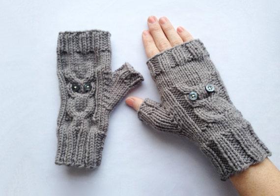Owl Gloves Knit Pattern Etsy