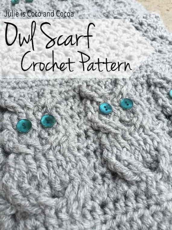 Owl Scarf Crochet Pattern  e4f42c211017