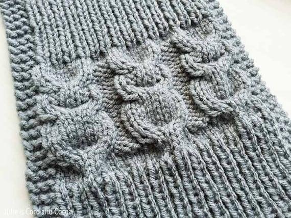 Owl Scarf Knit Pattern Etsy