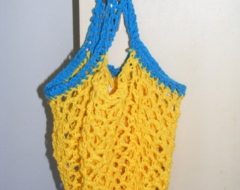 70's style string shopping bag