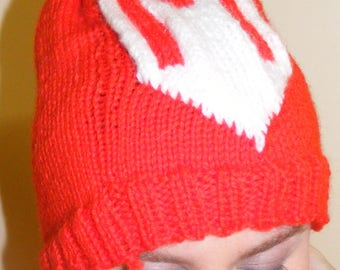 Adults knitted Mario beanie hat