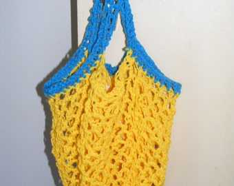 70's style string shopping bag made to order