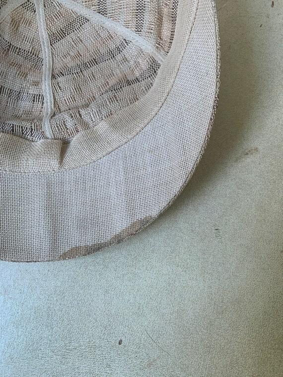 1940s Soft Straw Baseball Cap // Vintage Little R… - image 8