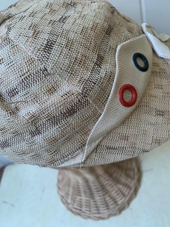 1940s Soft Straw Baseball Cap // Vintage Little R… - image 4