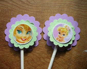 Tinkerbell Cup Cake Toppers