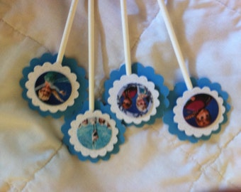 Frozen Cup Cake Toppers