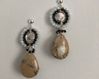 Malia jasper drop earrings