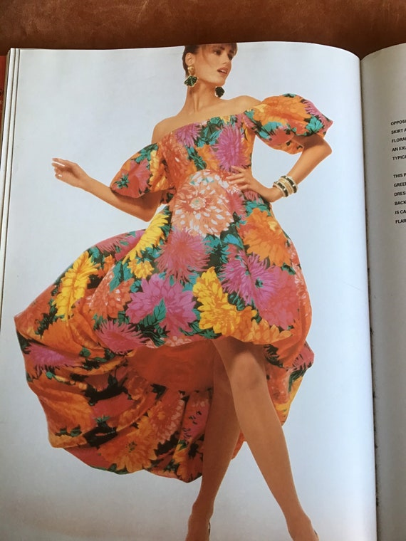 Vtg Scaasi Dress. Floral. Documented. Rare. S