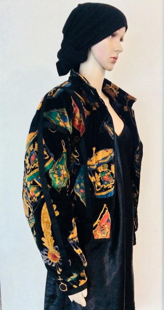 Vintage ESCADA 80s velvet Bomber Jacket