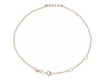 """14K Rose Gold  Natural Ethiopian Opal Bar 6 1/2-7 1/2"""" Bracelet"""