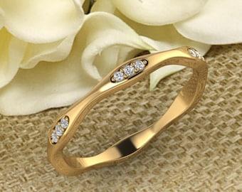 2.50 MM Full Eternity wedding band 14K gold  Round Diamond/Moissanite wedding ring stacking matching band Bridal set Promise Gift for women