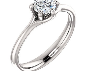1/2ct GIA Certified Diamond Solitaire  Engagement Ring In 14k White Gold ST233229