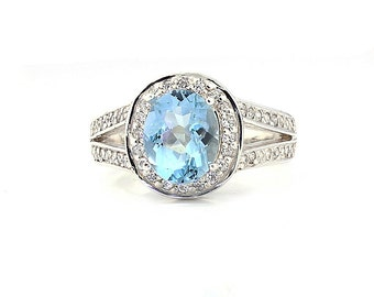 <> Aquamarine Rings