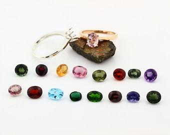 Custom Natural gemstone ring, white, yellow, rose gold, topaz morganite garnet tourmaline citrine Amethyst ETC---Special
