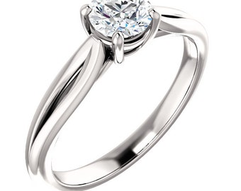 1/2ct GIA Certified Diamond Solitaire  Engagement Ring In 14k White Gold ST233298