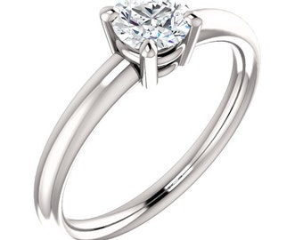 1/2ct GIA Certified Diamond Solitaire  Engagement Ring In 14k White Gold ST233342