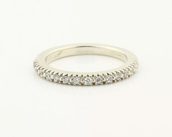 14k White Gold  Natural Diamond Wedding Band Ring- Special Offer