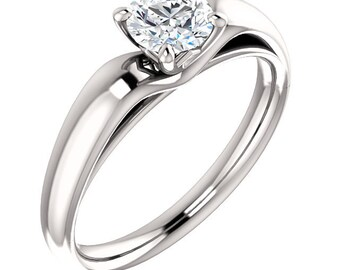 1/2ct GIA Certified Diamond Solitaire  Engagement Ring In 14k White Gold ST233380