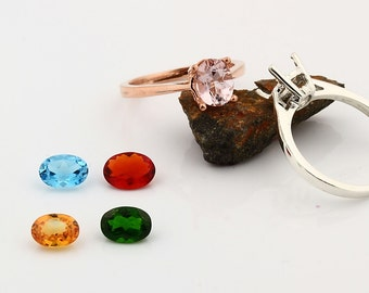 Custom gemstone ring, white, yellow, rose gold, Topaz Morganite Garnet  Sapphire etc----special