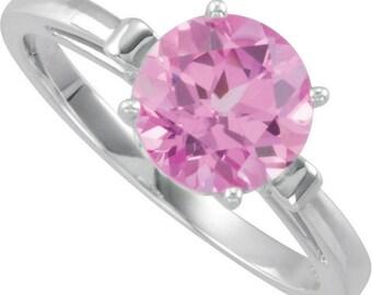 Genuine Pink Topaz SWAROVSKI GEMS™ Topaz Series 8mm Round  Fleur-de-Lis Ring In 14k Gold  ******Specail ***** Color  Stone selectable Gem936