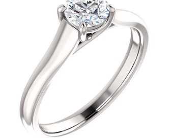 1/2ct GIA Certified Diamond Solitaire  Engagement Ring In 14k White Gold ST233100