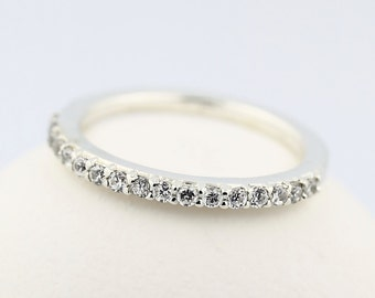 Natural Diamond Wedding Band Ring 14k White Gold---special offer