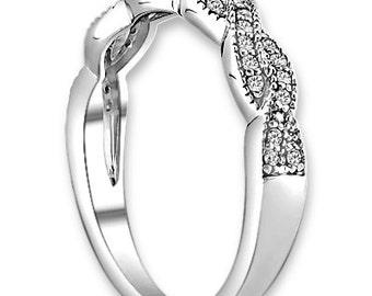 14K White / Yellow / Rose  Gold  Natural Round Diamond Wedding Half Eternity Band  Aniversary Ring ENS4142 Gem1271