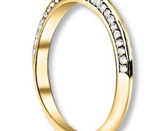 14K White / Yellow / Rose  Gold  Natural Round Diamond Wedding Band  Aniversary Ring ENS4264