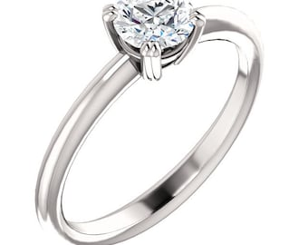 1/2ct GIA Certified Diamond Solitaire  Engagement Ring In 14k White Gold ST82792