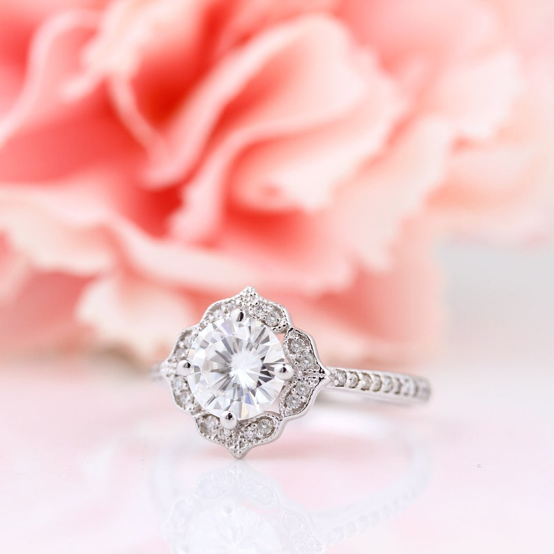 Certified  7mm Forever One Moissanite Near Colorless image 0