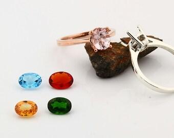 Custom gemstone ring, white, yellow, rose gold, Topaz Morganite Garnet  Sapphire etc----special