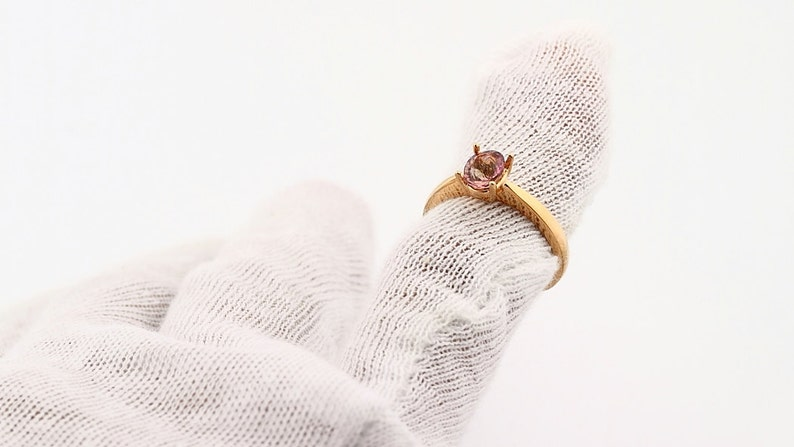 yellow white rose gold Custom Natural gemstone ring topaz morganite garnet tourmaline citrine Amethyst ETC---Special