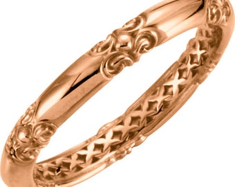 Stackable 14kt Rose ,Yellow or White Gold  Sculptural-Inspired Ring  ****Special for you*****-ST62286