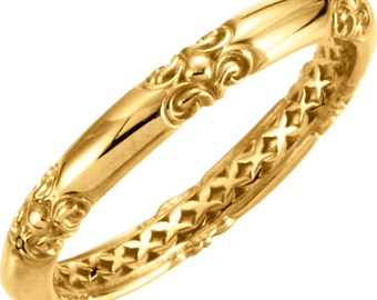 Stackable 14kt Yellow ,White or Rose Gold  Sculptural-Inspired Ring  ****Special for you*****-ST62286