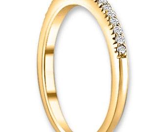 14K White / Yellow / Rose  Gold  Natural Round Diamond Wedding Band  Aniversary Ring ENS4110-1528