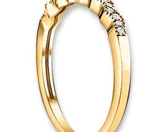 14K Yellow / White / Rose  Gold  Natural Round Diamond Wedding Band  Aniversary Ring ENS4107