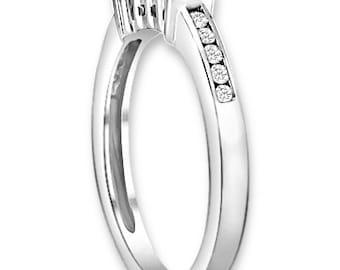 14K White / Yellow / Rose  Gold  Natural Round Diamond Wedding Band  Anniversary Ring ENS4197