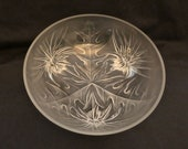 Frosted Verlys France three Footed quot THISTLE BOWL quot