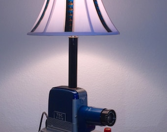 Upcycled Vintage Slide Projector Table Light with actual film shade by JSSculptures