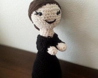 Saint Gemma Galgan crochet doll, Catholic saint doll