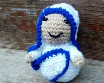Mother Teresa crochet doll