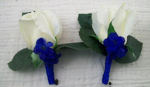 Trous De Bleu Et Naturel Blanc Real Touch Rose Bud Etsy