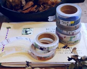Chamil Garden Favourite Series - 8 tapes in set, collage washi, slim washi tape, journaling, washi tape, washi set, journal washi