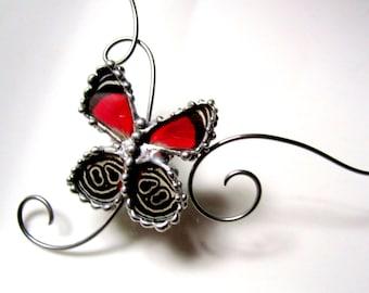 89 Butterfly - Real Butterfly Wing Choker
