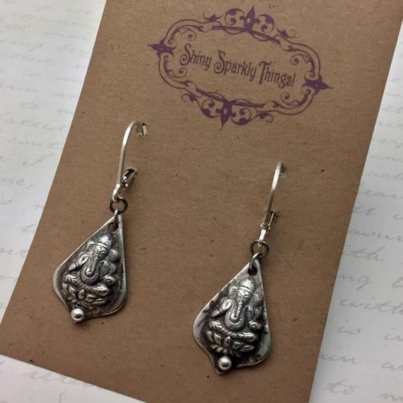 Sterling Silver Ganesha earrings