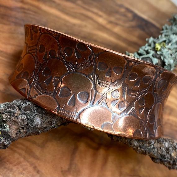 Sea of Skulls Copper Cuff Bracelet