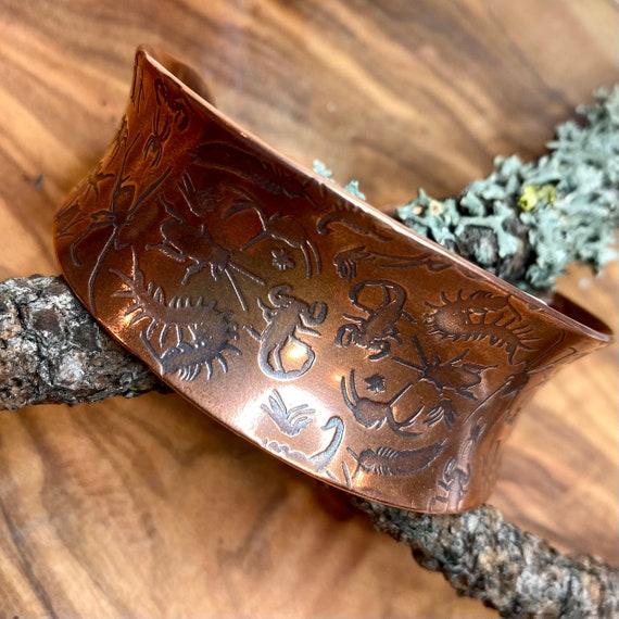 Creepy Crawlies Copper Cuff Bracelet