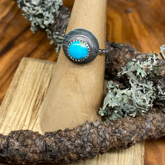 Sweetest turquoise stacker ring - size 5 1/2