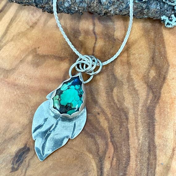 Hubei Turquoise Leaf Pendant