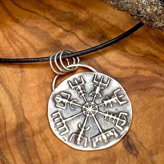 Silver Vikings Compass Pendant